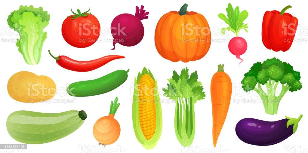 Ilustración De Verduras De Dibujos Animados Verduras Veganas