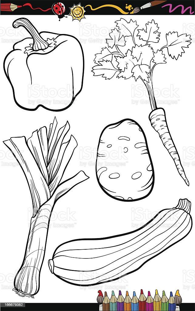 Coloriage Paprika Dessin Anime.Dessin Anime Legumes Ensemble Pour Livre De Coloriage Vecteurs