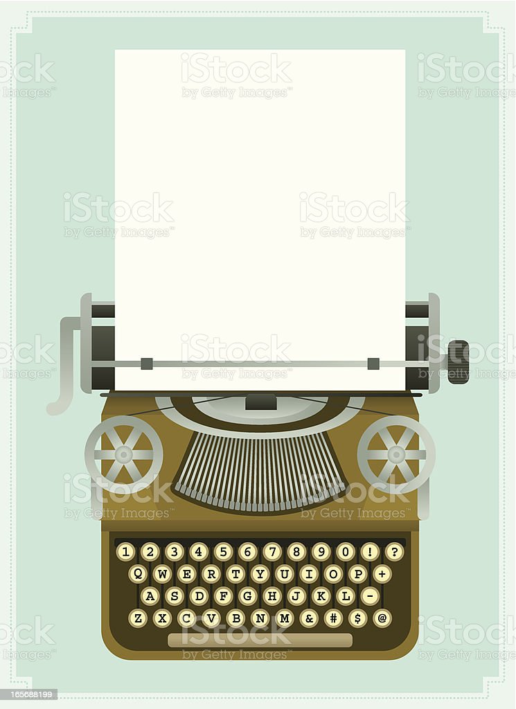 A cartoon version of an antique typewriter  royalty-free a cartoon version of an antique typewriter stock vector art & more images of antique