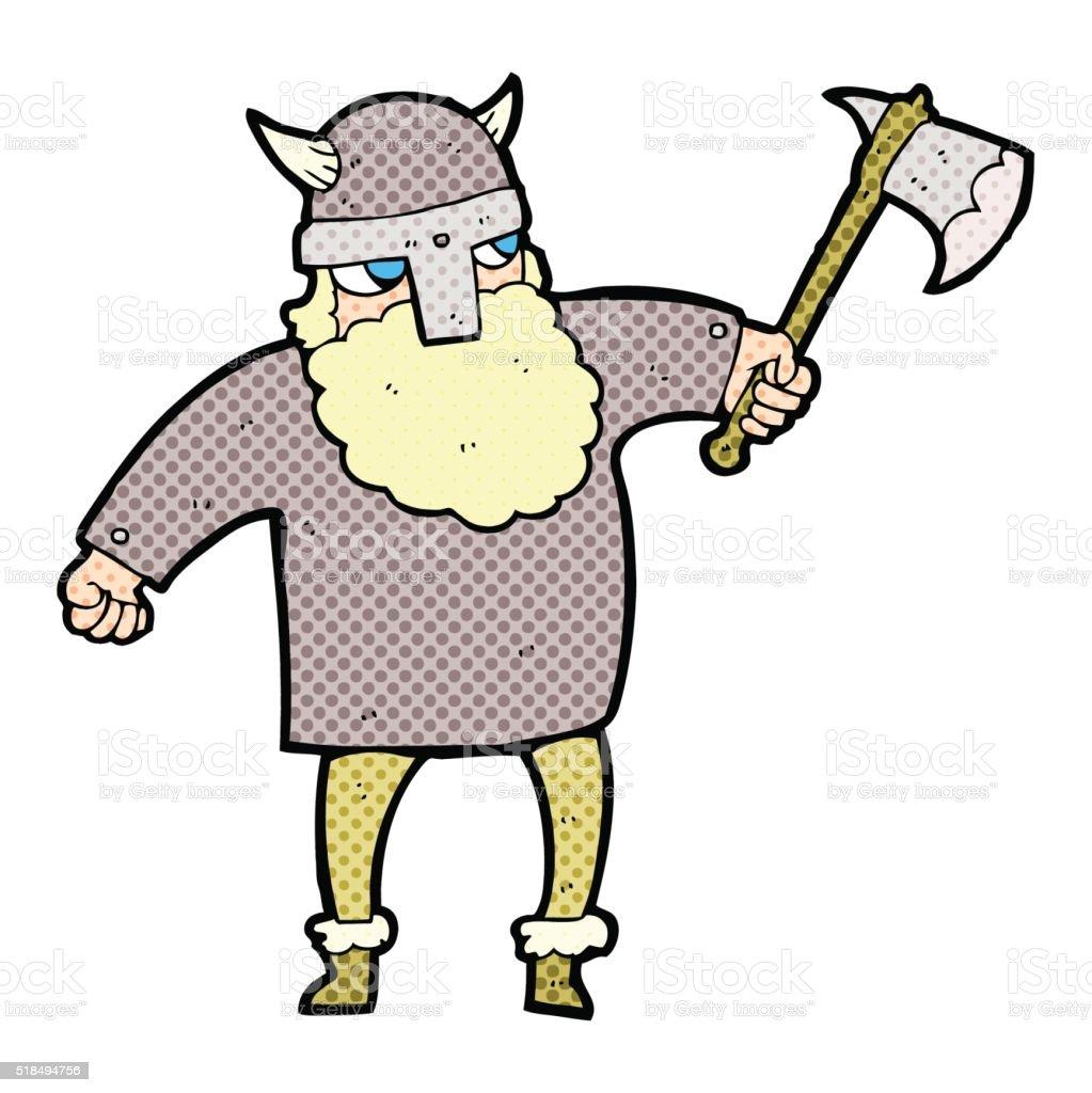 カットイラストバイキング戦士 いたずら書きのベクターアート素材や