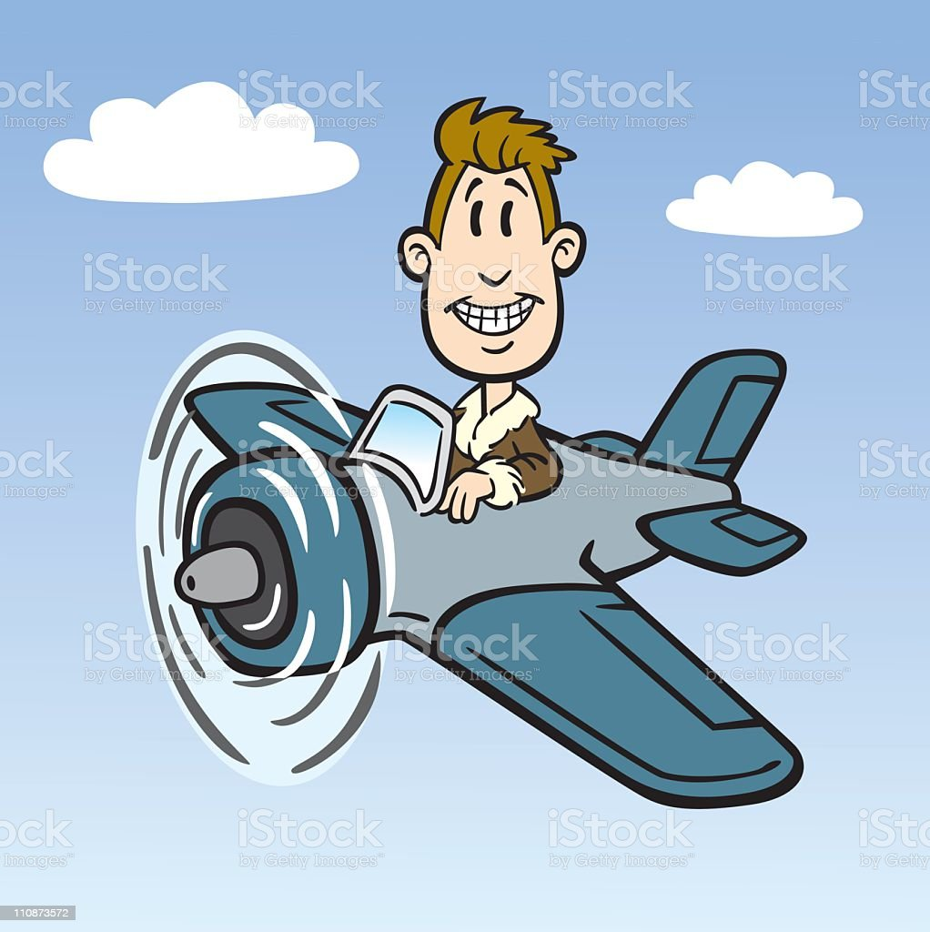 Cartoon Vintage Fighter Pilot royalty-free cartoon vintage fighter pilot stock vector art & more images of adult