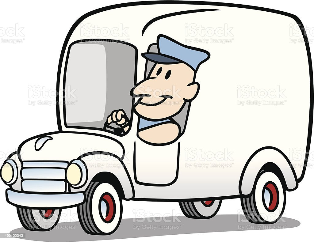 Cartoon Vintage Van Stock Vector Art & More Images of ...