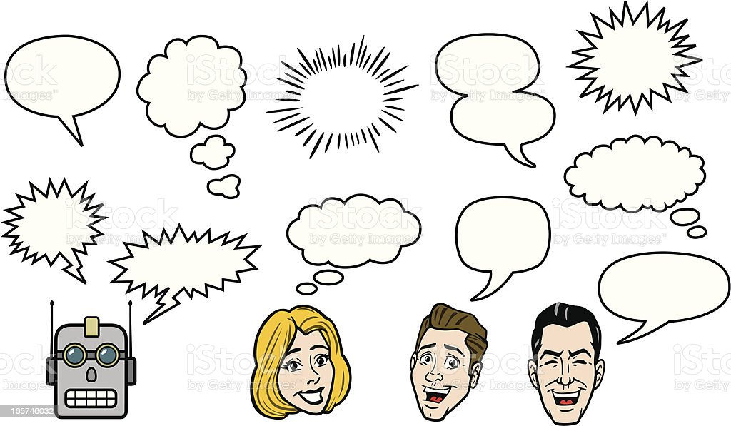 Cartoon Voice Balloons For Comic Strip royalty-free cartoon voice balloons for comic strip stock vector art & more images of adult