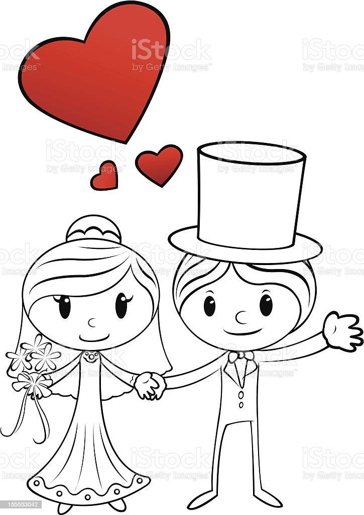 couple de mariage dessin anim couple de mariage dessin anim cliparts vectoriels et plus d - Dessin Mariage