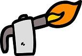 cartoon welding torch