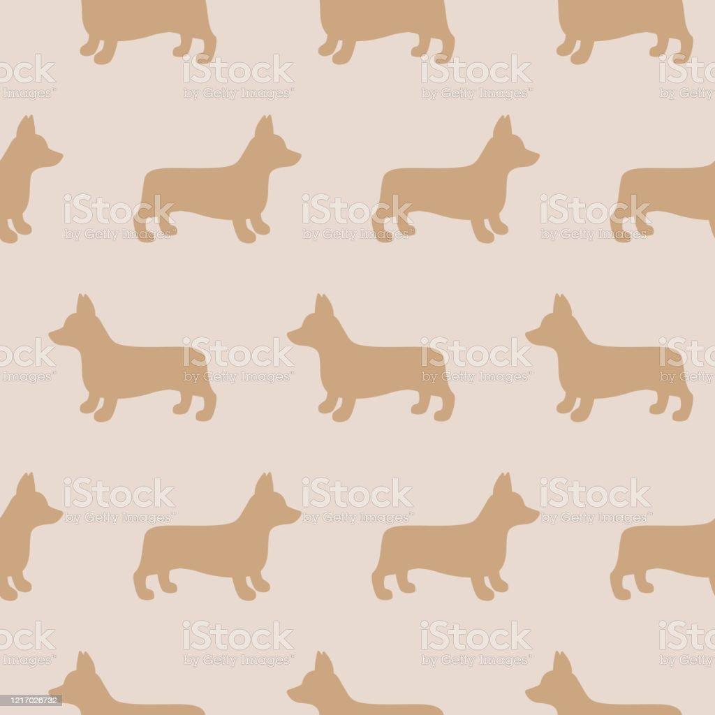 漫画ウェールズコーギー犬シームレスパターンの背景カード壁紙アルバムスクラップブックホリデー包装紙織物衣服tシャツのデザインなどの抽象的なコーギー犬のパターン アイコンのベクターアート素材や画像を多数ご用意 Istock