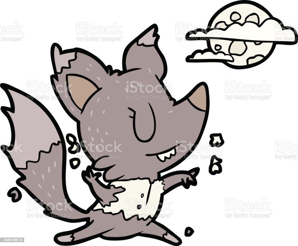 Ilustración De Hombre Lobo De Dibujos Animados Cambiar La Luz De