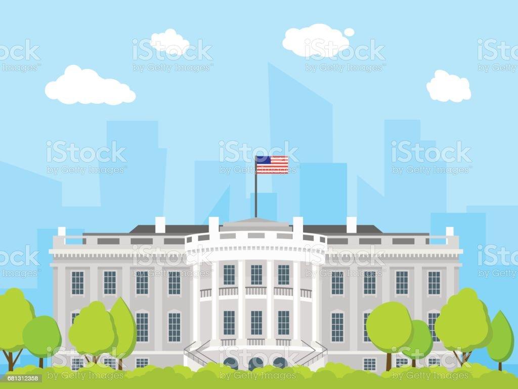 cartoon white house building vector stock vector art more images rh istockphoto com