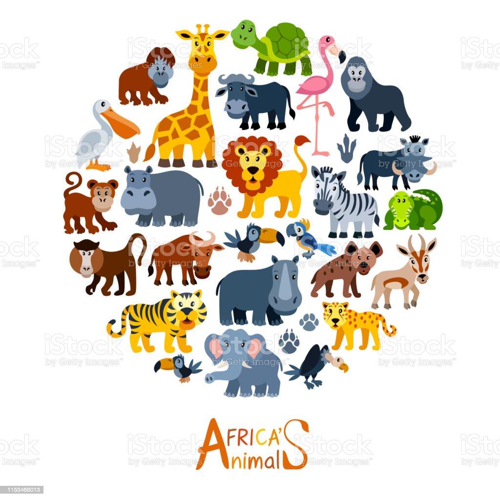 만화 야생 동물 캐릭터 동물에 대한 스톡 벡터 아트 및 기타 이미지 - iStock
