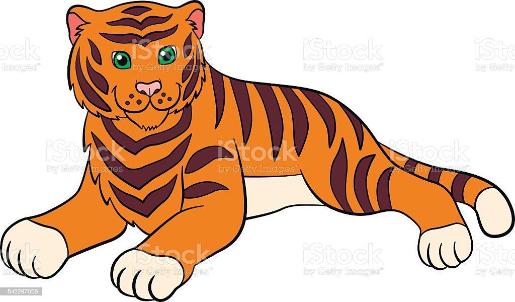 Ilustración De Dibujos Animados Animales Salvajes Para