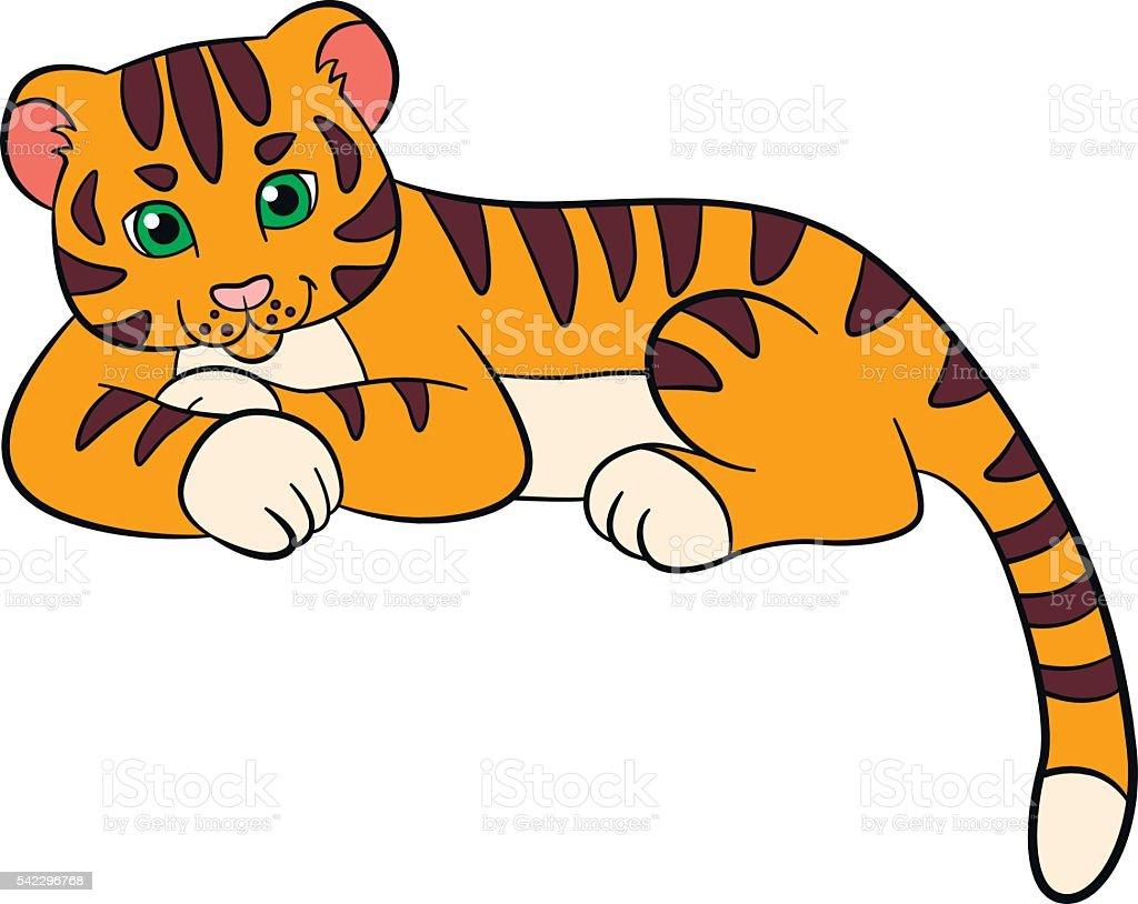 Dibujos Animados Animales Salvajes Para Niños Tigre Lindo Bebé ...