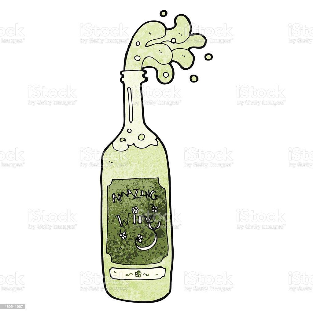 cartoon wine bottle royalty-free stock vector art