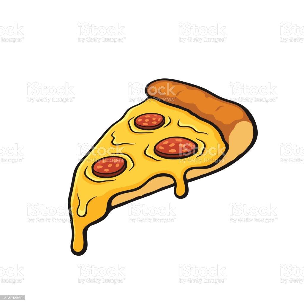 ilustraci u00f3n de dibujos animados con contorno de rebanada cheese pizza clipart black and white cheese pizza slice clipart