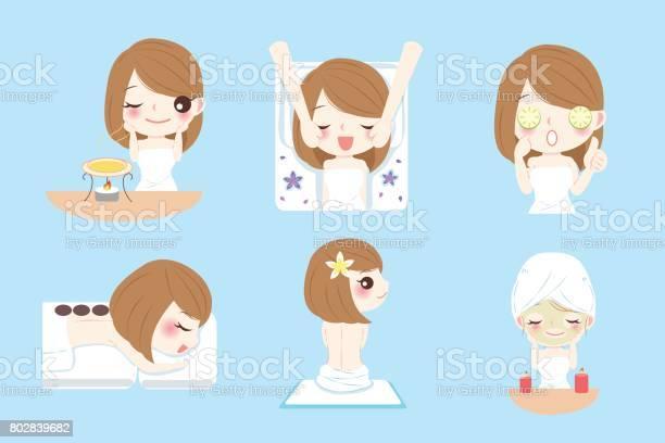 Cartoon Woman Do Spa Stock Illustration Download Image Now Istock