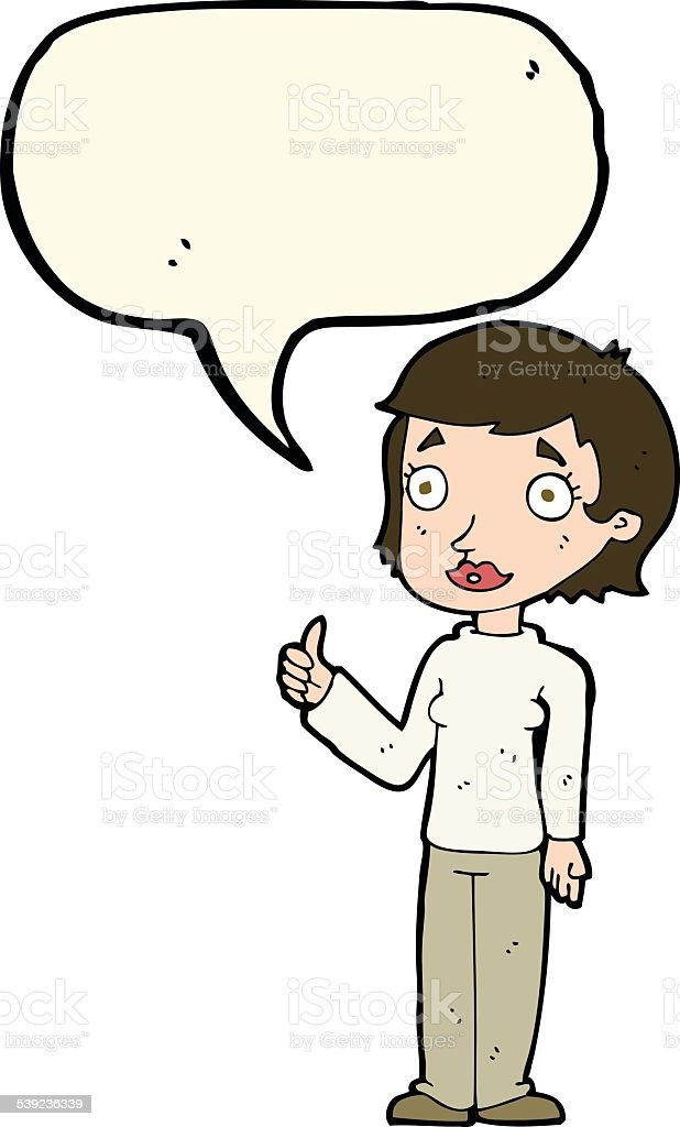 cartoon woman giving thumbs up symbol with speech bubble royalty-free cartoon woman giving thumbs up symbol with speech bubble stock vector art & more images of adult