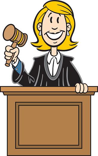 Cartoon Woman Judge