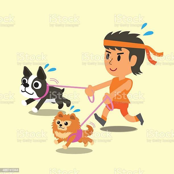 Cartoon woman running with her dogs vector id486741044?b=1&k=6&m=486741044&s=612x612&h=ewttozubqvz tbmgbt997botle2dzhjqekyml29nc00=