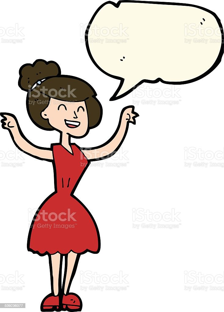 cartoon woman with raised arms with speech bubble royalty-free cartoon woman with raised arms with speech bubble stock vector art & more images of adult