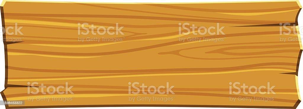 cartoon wood board - Illustration vectorielle