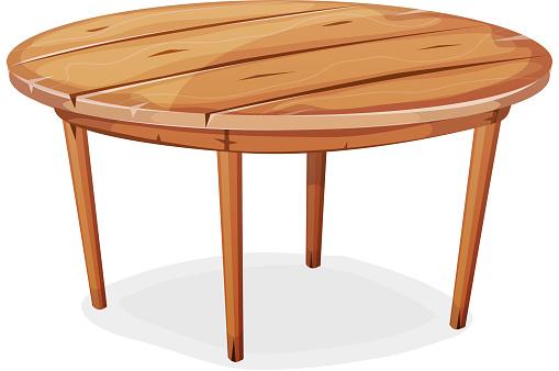 Comic Holz Tisch Stock Vektor Art und mehr Bilder von Ausrüstung und Geräte