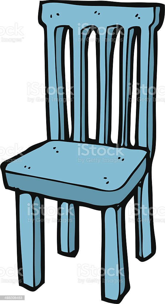 Cartoon Wooden Chair Stock Illustration Download Image Now