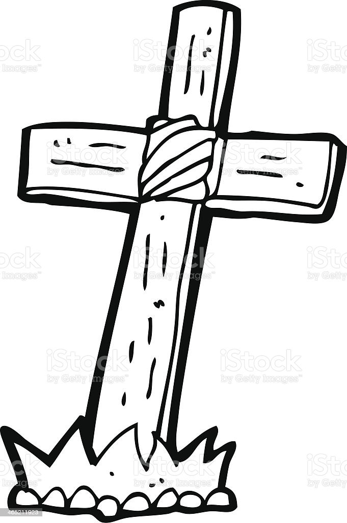 croix en bois dessin anim u00e9 tombe cliparts vectoriels et wooden cross clipart with no background wooden cross clip art black and white
