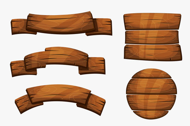 Wooden Plank Cartoon ~ Royalty free planks clip art vector images