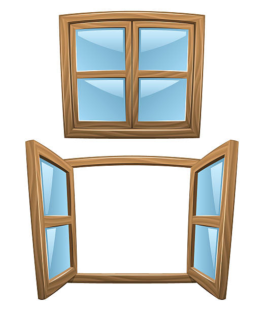 Royalty Free Wooden Window Frame Clip Art, Vector Images ...