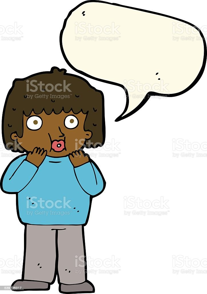 cartoon worried boy with speech bubble royalty-free cartoon worried boy with speech bubble stock vector art & more images of adult