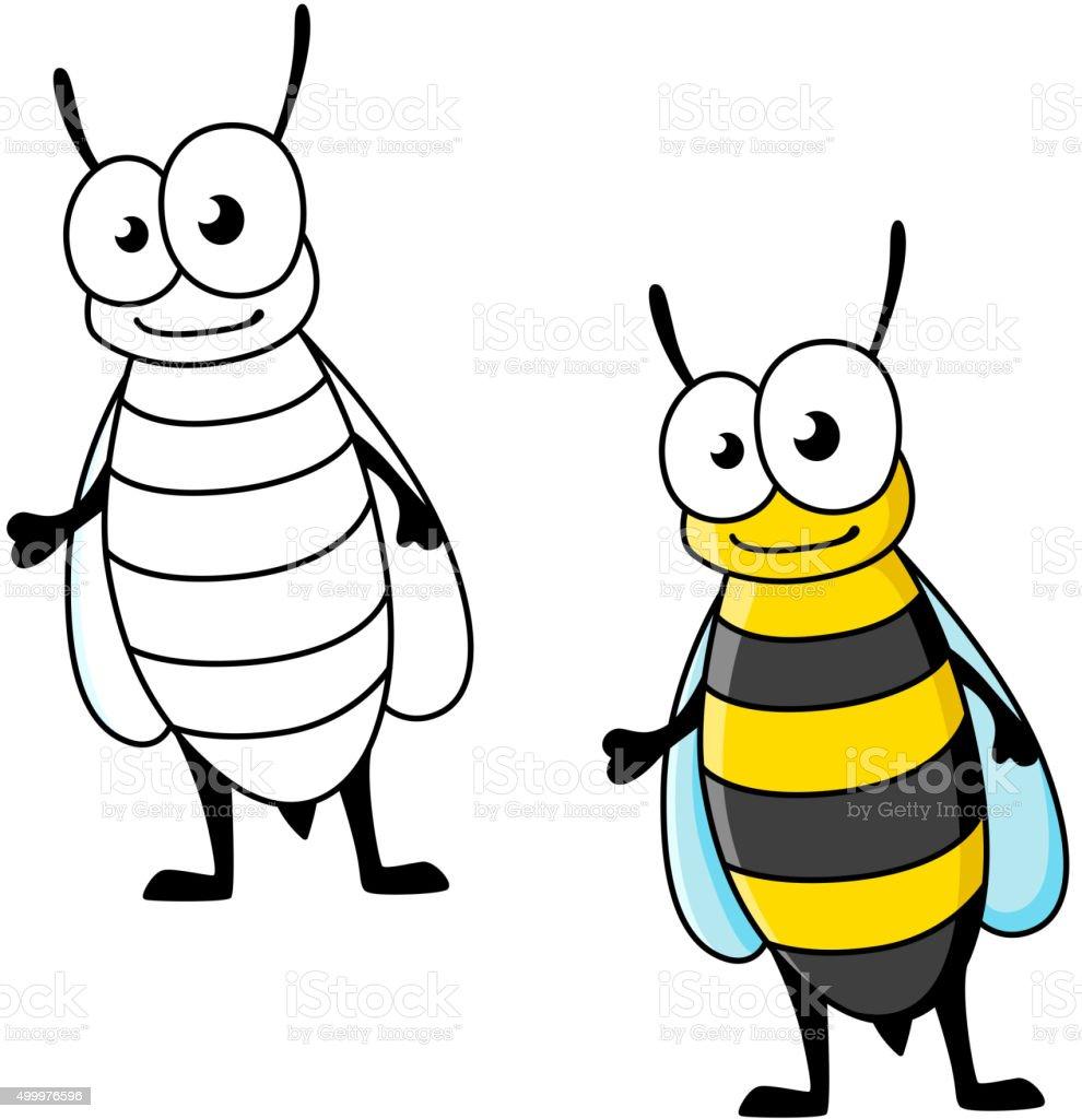 Cartoon Yellow Jacket Wasp Insect Character Stock Vector Art More