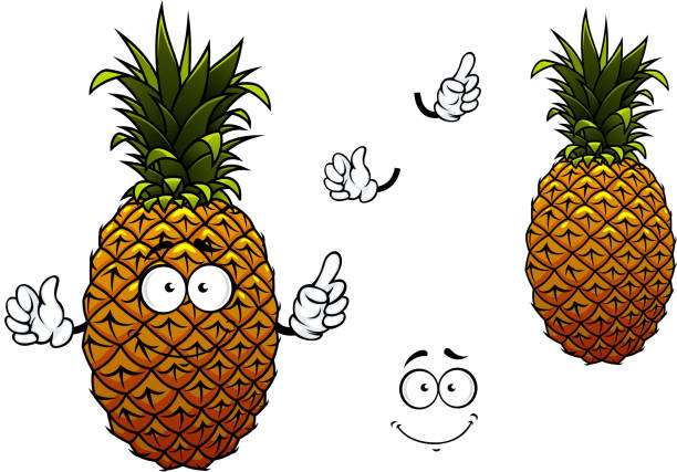 Royalty Free Pineapple Face Clip Art, Vector Images ...