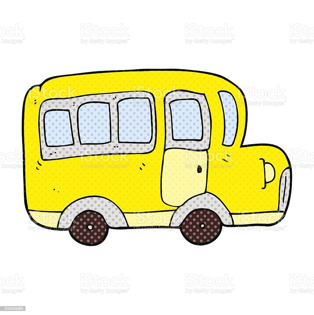 カットイラスト黄色いスクールバス - いたずら書きのベクターアート素材