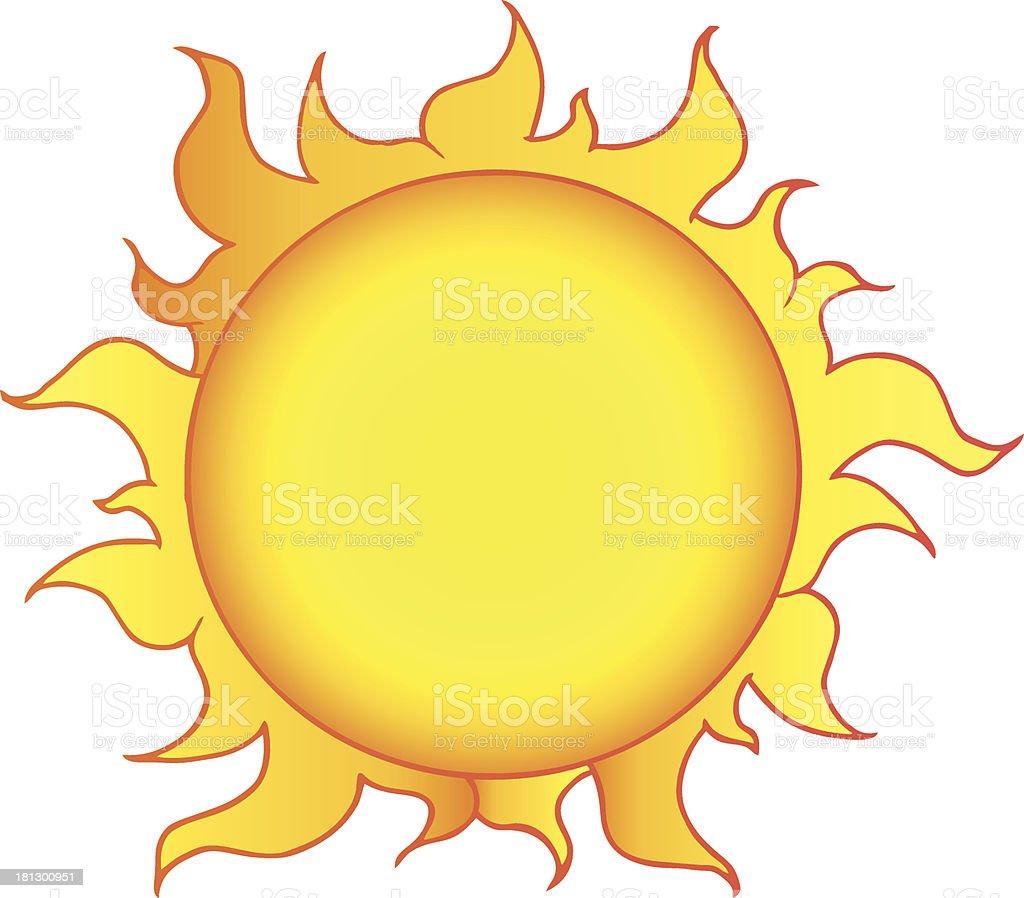 ilustración de dibujos animados de sol amarillo brillante y más