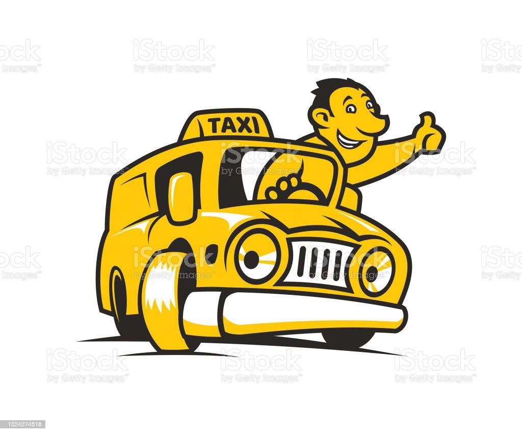 Dessin Anime Jaune Taxi Avec Chauffeur De Taxi Vecteurs Libres De Droits Et Plus D Images Vectorielles De Adulte Istock