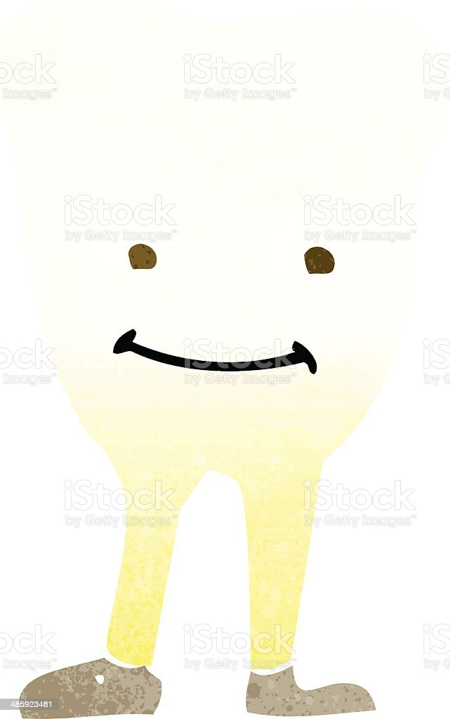 cartoon yellowing  tooth royalty-free stock vector art
