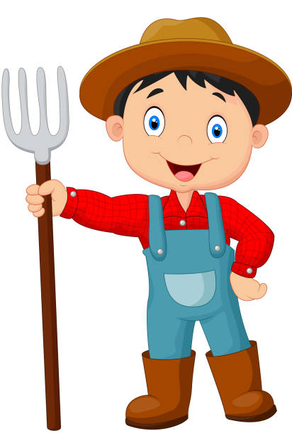 Royalty Free Farmer Cartoon Clip Art, Vector Images ...