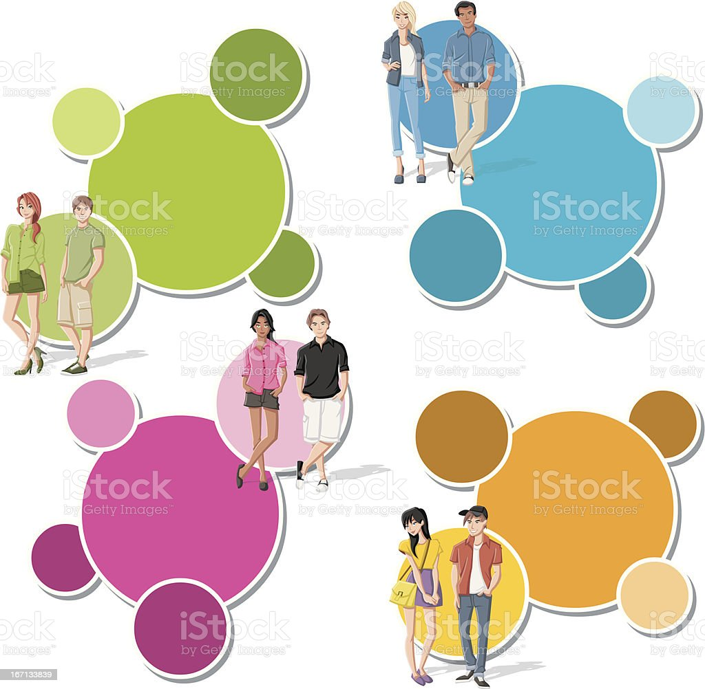 cartoon young people. royalty-free stock vector art