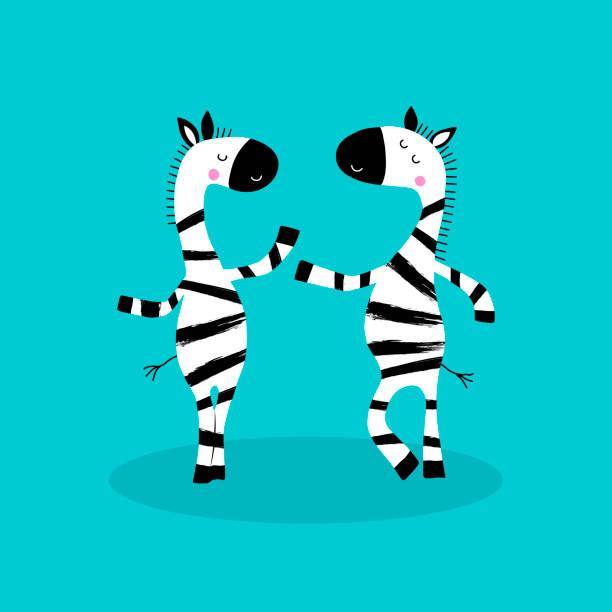 zebras zeichentrickfigur. - zebras stock-grafiken, -clipart, -cartoons und -symbole