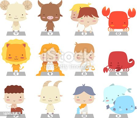 cartoon zodiac characters.