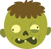 Cartoon zombie character isolated