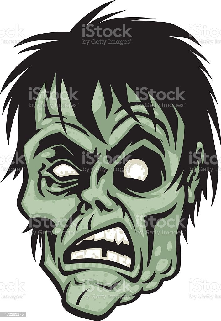 Zombie Face Line Drawing : Cartoon zombie face stock vector art more images of