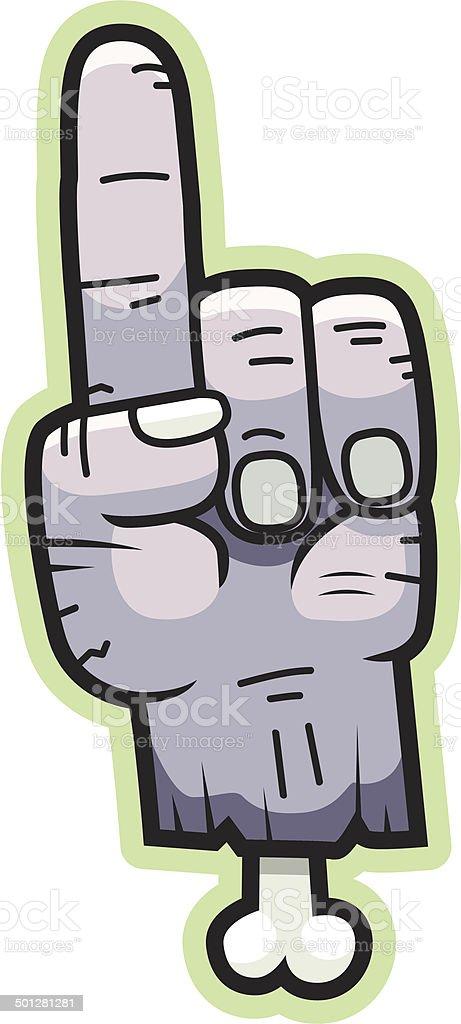 Cartoon Zombie Hand royalty-free stock vector art