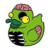 Cartoon Zombie Rubber Duck