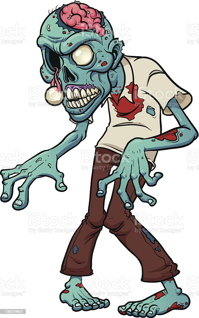 Cartoon zombie royalty-free cartoon zombie stock vector art & more images of blue