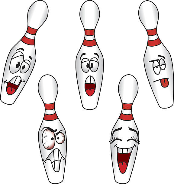 Best Bowling Pins Illustrations, Royalty-Free Vector ...