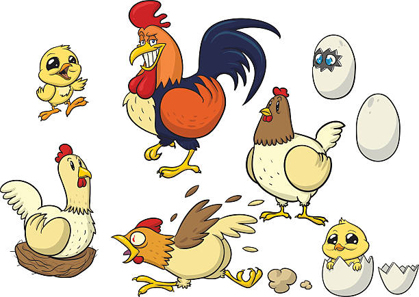 Royalty Free Scared Chicken Clip Art, Vector Images