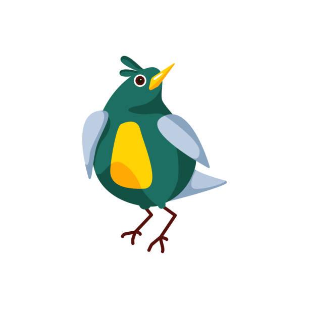 ilustrações de stock, clip art, desenhos animados e ícones de cartoons_birds-09 - pena de pássaro algodão