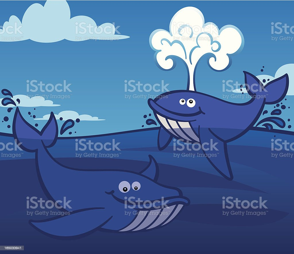 Cartoony Whales royalty-free cartoony whales stock vector art & more images of animal