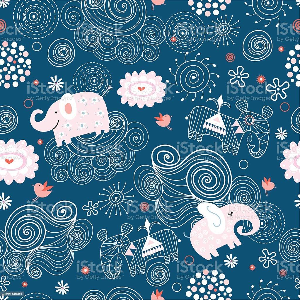 Geschnitzte elephant – Vektorgrafik