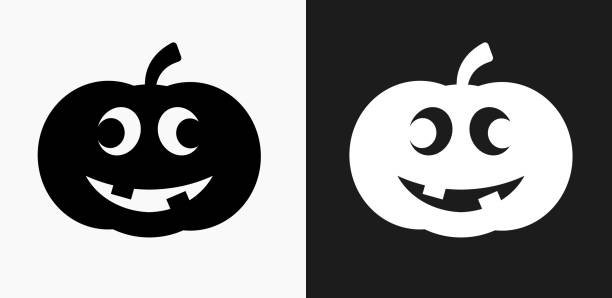 Black And White Pumpkin Illustrations, Royalty-Free Vector ...